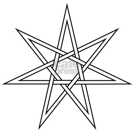 how to draw a 7 pointed star