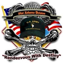 US Army 101st Airborne Division Skull