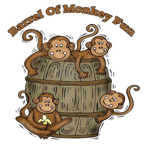Barrel of monkeys drinking glass by sagart for Barrel of monkeys coloring page