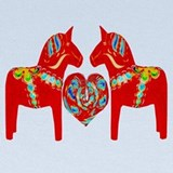 Swedish dala horse Baby Hats