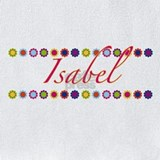 Isabel name flowers Bib