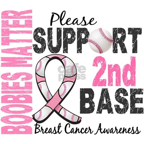 Second 2nd Base Breast Cancer Apron by awarenessgifts