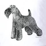 Kerry blue terrier art Polos