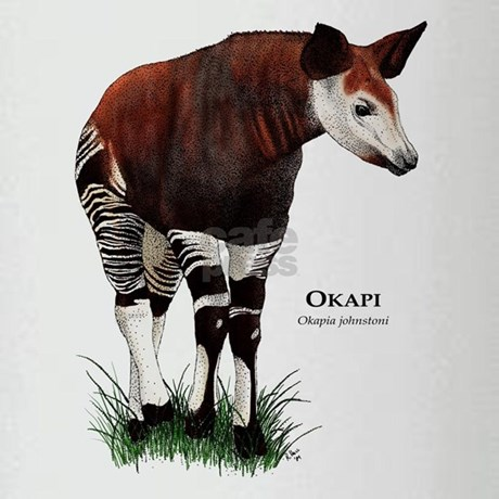 Okapi drinking glass by wildlifearts for Okapi coloring page