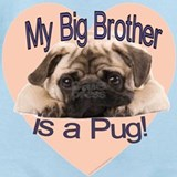 Brother pug Baby Bodysuits