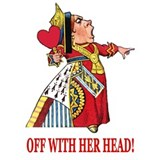 Queen of hearts off with Wall Decals