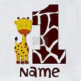 1st birthday giraffe Bib