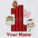 1st birthday farm animals Bib
