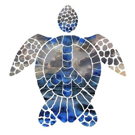 Sea Turtle Peace Shower Curtain. Sea Turtle Peace Shower Curtain