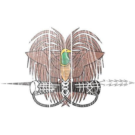 Papua New Guinea Coat Of Arms Throw Blanket By Coatofarmswood