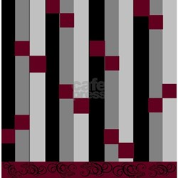 Burgundy And Gray Bathroom Accessories & Decor CafePress