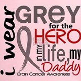 I wear grey for my dad father daddy Performance Dry T-Shirts