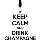 Keep calm and drink champagne Aprons