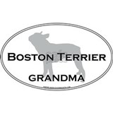 Boston terrier grandma T-shirts