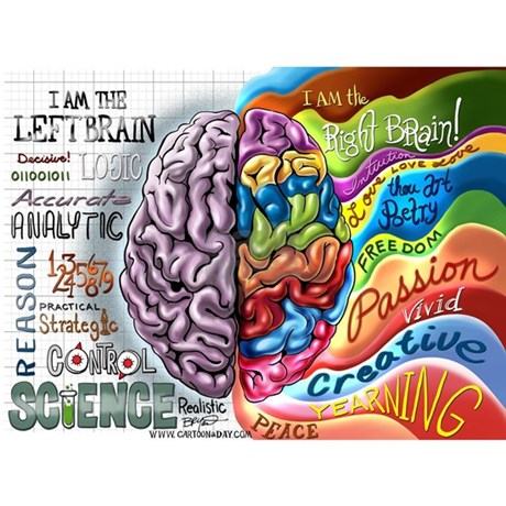 Image result for right brain cartoon