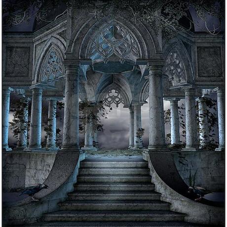 Gothic Mausoleum Shower Curtain. Gothic Mausoleum Shower Curtain - Gothic Mausoleum Shower Curtain By ShowerCurtainShop