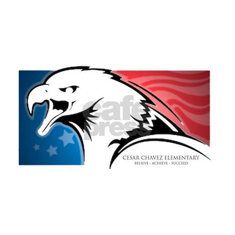 Cesar Chavez American Eagle Logo Throw Blanket By