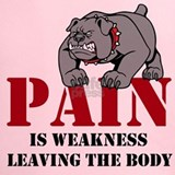 Pain is weakness leaving the body marines Performance Dry T-Shirts