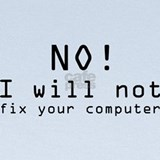 No i will not fix your computer Baby Hats