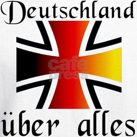 Deutschland uber alles Hoodie by krautkorner
