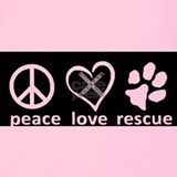 Peace love rescue Tank Tops