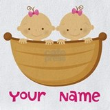Twins girls personalized Bib