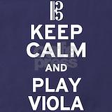 Blue keep calm play viola Aprons