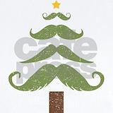 Christmas mustache Baby Bodysuits
