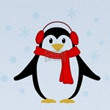 Cute penguins red Baby Hats