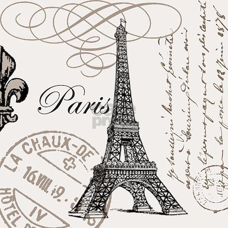 Vintage Eiffel Tower Shower Curtain. Vintage Eiffel Tower Shower Curtain