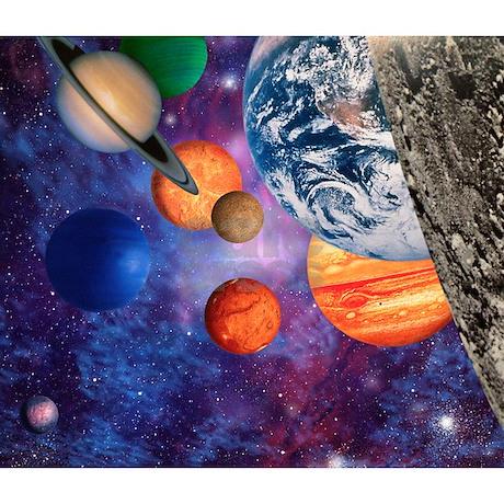 Solar System Throw Blanket By Sciencephotos