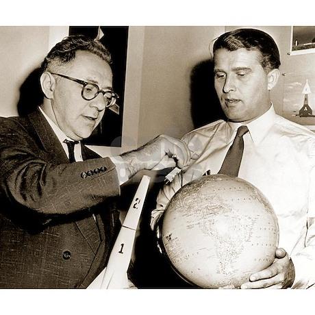 Wernher Von Braun And Willy Ley Throw Blanket Jpg Height