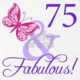 75th birthday women Aprons