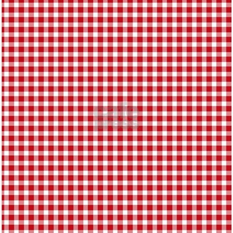 red gingham shower curtain by poptopia1