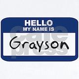 Grayson nametag Baby Bodysuits
