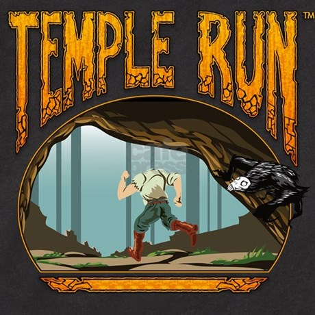 Temple run guy and monkey t shirt by mediapop for Temple run coloring pages