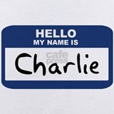 Hello my name is charlie Baby Bodysuits