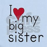 I love my big sister Baby Bodysuits