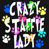 Crazy staffie lady T-shirts