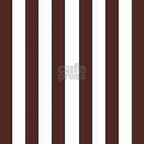 Dark brown and white stripes Shower Curtain by stripstrapstripes