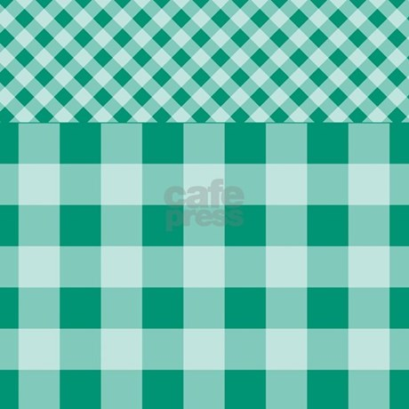 Emerald green gingham pattern shower curtain by - Green curtain patterns ...