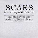 Scars original tattoo dirt bike motocross funny T-shirts