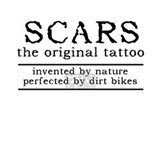 Scars original tattoo dirt bike motocross funny T-shirts