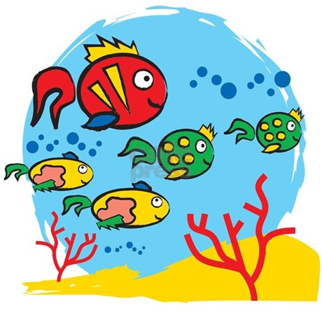 FISH AQUARIUM Shower Curtain by XLcomunicazione
