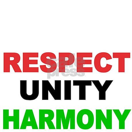 Respect Unity Harmony Wall Clock By Terriblyhumoroustees