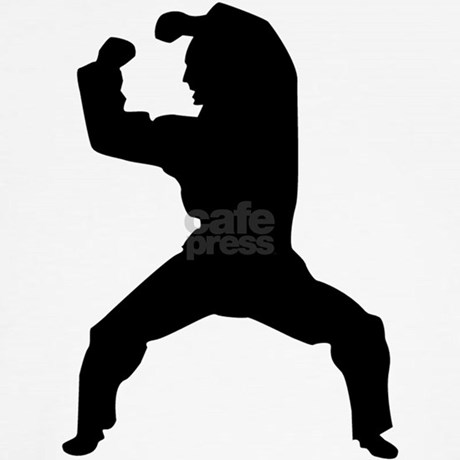 kung fu karate mixed martial arts silhouette wa by winningsportsgear. Black Bedroom Furniture Sets. Home Design Ideas