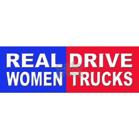 Sticker - Bumper - Real Women Drive Trucks - фото 9