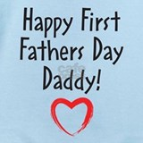 1st fathers day Baby Bodysuits
