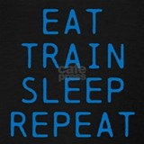 Eat sleep train repeat Tank Tops