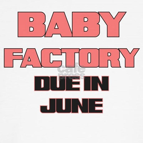 Baby Factory Funny Baby Factory Due in June Pink